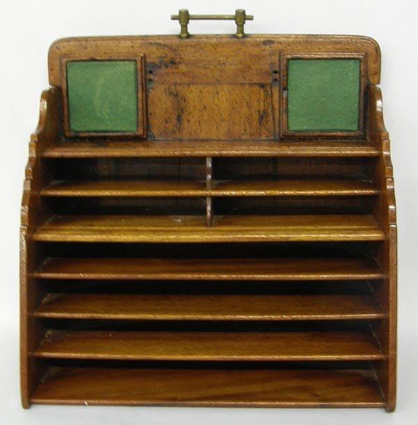 Antique Mission Style Desk Organizer