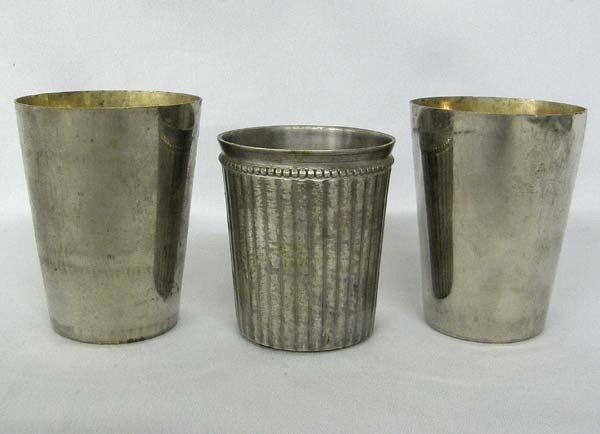 Vintage German & West Indian Silvered Metal Cups