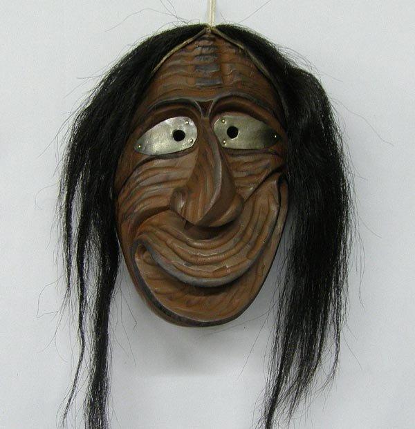 Iroquois Wooden False Face Society Mask