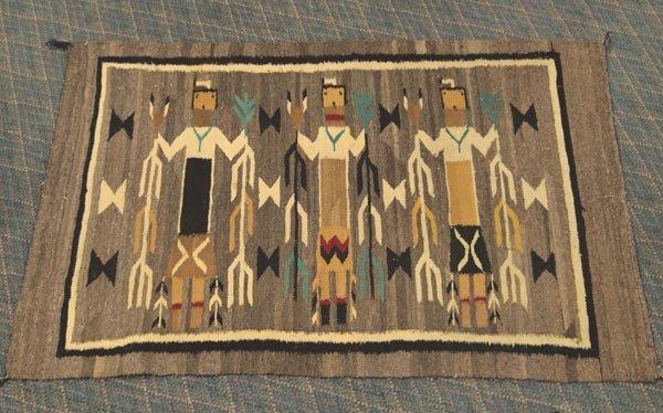 Native American Yei Navajo Rug