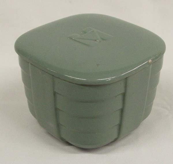 Vintage Halls Covered Pottery  Refrigerator Box