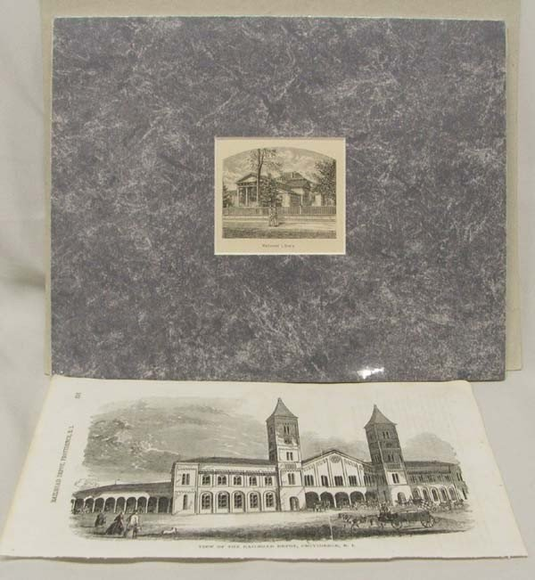 Munro Engraving Of Rhode Island Pen & Ink Sketch