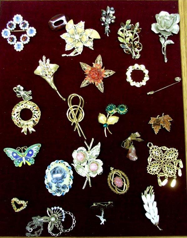 Vintage Costume Jewelry Pins