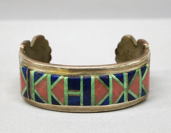 Native American Navajo Bracelet Hallmarked ERB