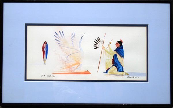 Native American Original Painting By Tointigh
