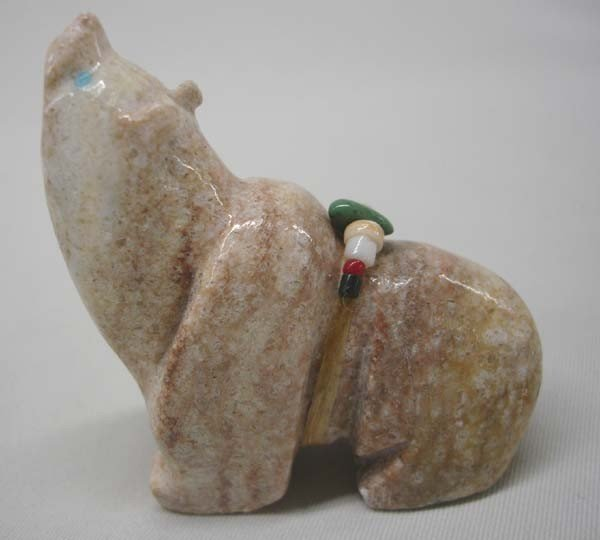 Native American Zuni Carved Stone Bear Fetish