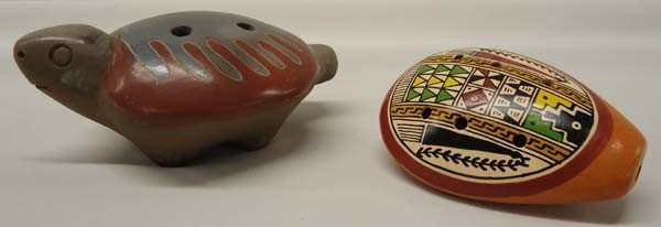 Mexican and Peruvian Clay Whistles