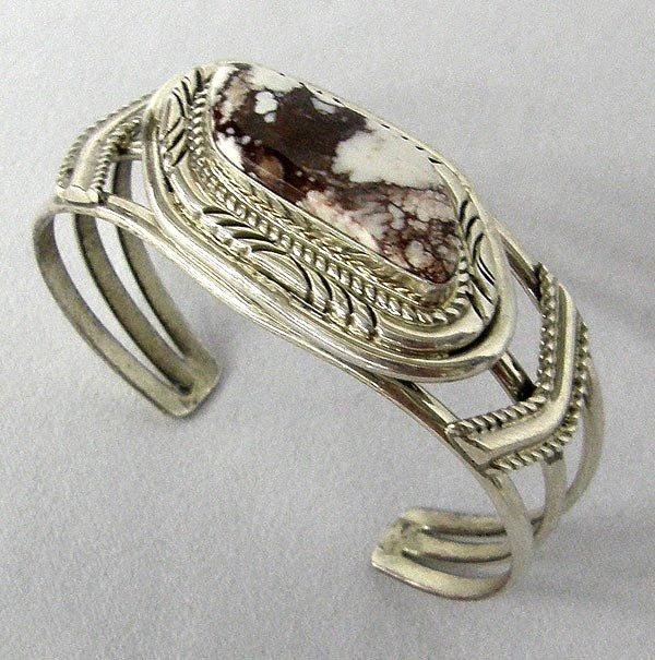 Native American Silver White Turquoise Bracelet