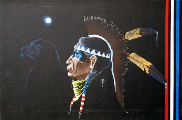 Native American Original Oil Painting by Barnoskie