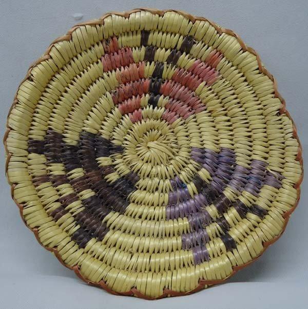 1975 Native American Navajo Butterfly Tray Basket