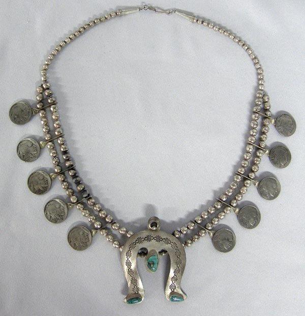 Native American Navajo Necklace By Ed Begay
