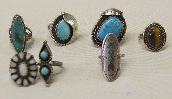 Native American Silver Turquoise Rings