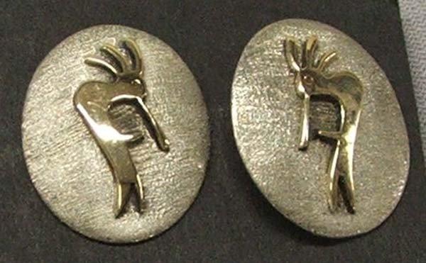 Native American Navajo 14kt Earrings by Secatero
