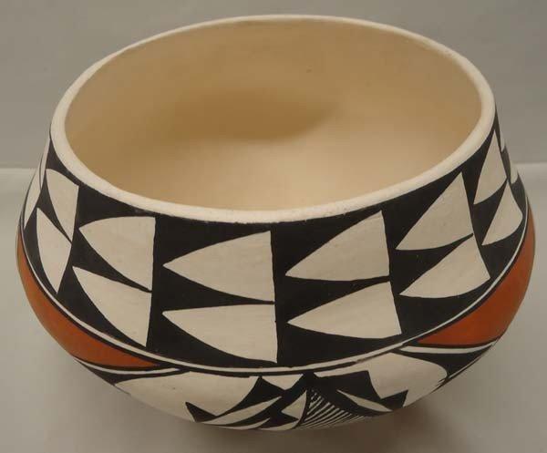 Native American Acoma Pottery By Brenda Charlie - 3