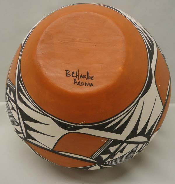Native American Acoma Pottery By Brenda Charlie - 5