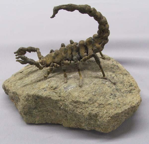 Charles Pratt  Metal Art Scorpion Sculpture on Rock - 3