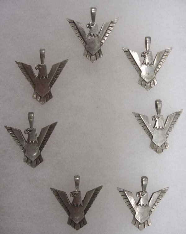 5 Thunderbird Pendants in Riker Box