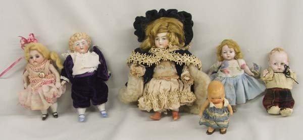6 Antique German Dolls