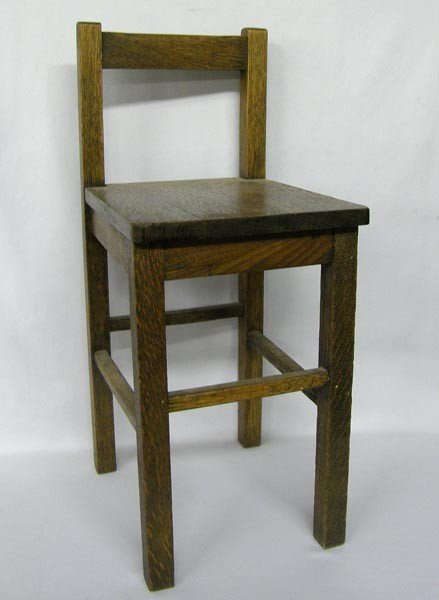 Antique American Oak Child's Chair