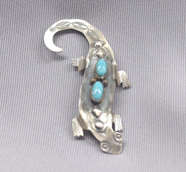 Native American Navajo Lizard Pin by Yazzie