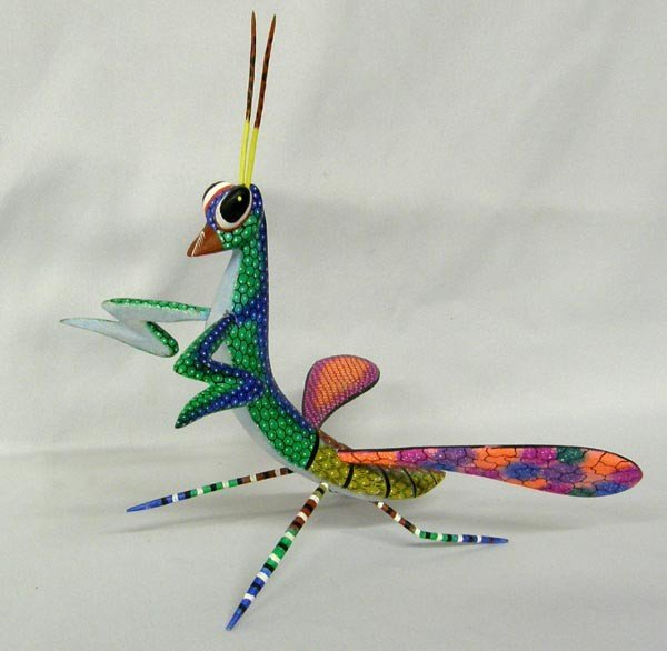 Mexican Oaxacan Alebrije Painted Praying Mantis