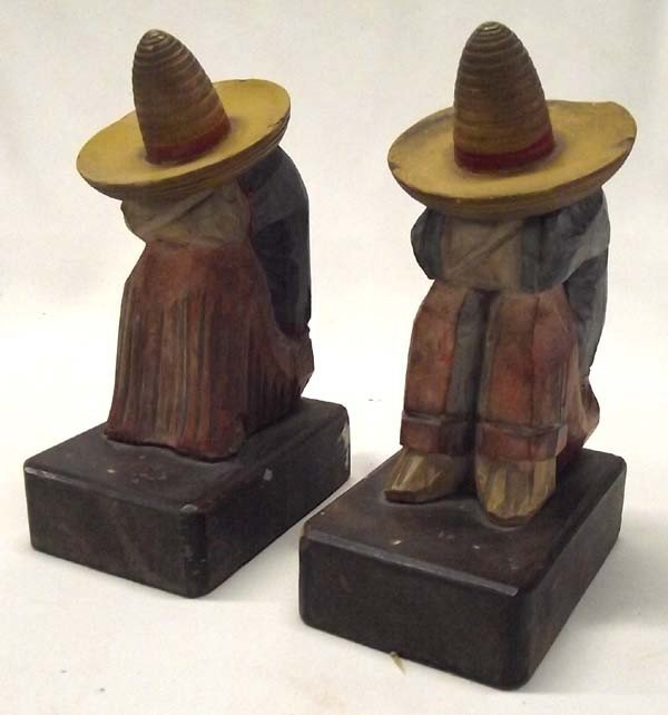 Vintage Handcarved Mexican Bookends