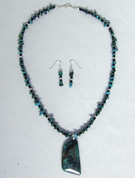 Sterling Sonoran Sunset Necklace & Earrings by Hansen