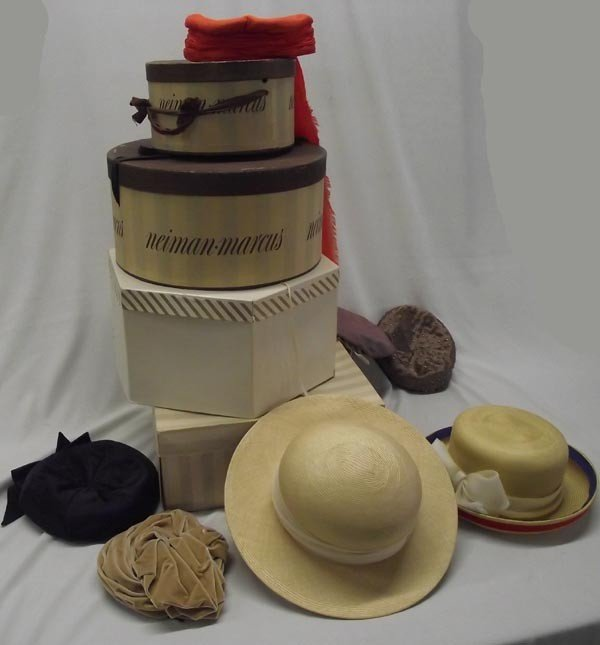 4 Neiman Marcus Hat Boxes and Vintage Hats