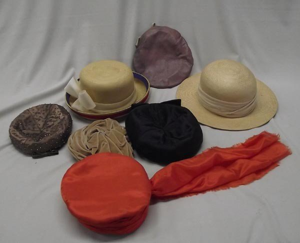 4 Neiman Marcus Hat Boxes and Vintage Hats - 2