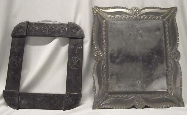 2 Mexican Tin Frames