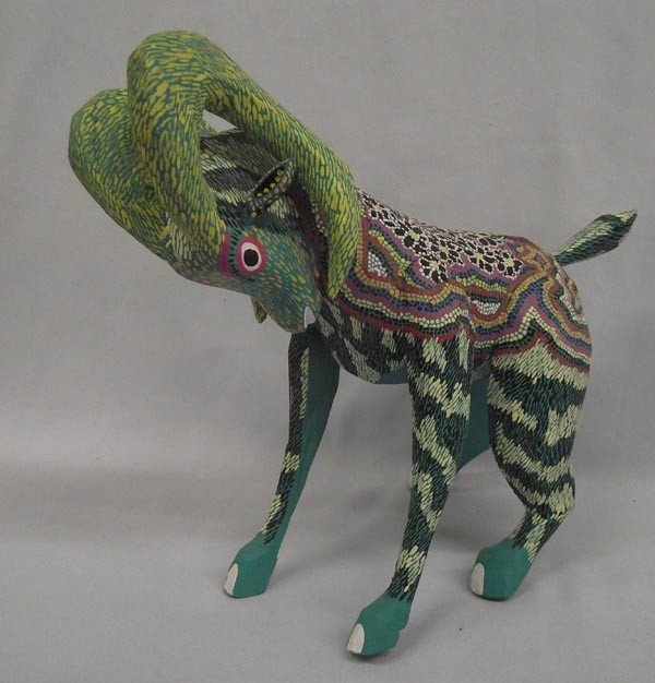 Mexican Oaxacan Alebrijes Painted Wood Goat