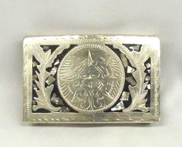 Mexican Alpaca Silver Belt Buckle