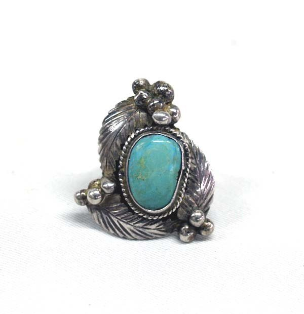 Native American Navajo Turquoise Ring Size 7 1/2