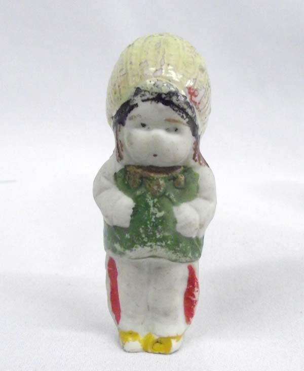 Japanese Bisque Figure of Native American Child.