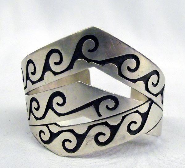 Native American Navajo Silver Bracelet