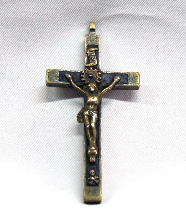 Vintage Bronze/Wood Crucifix