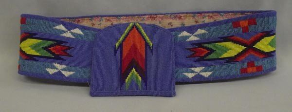 Native American Sioux Beaded Ceremonial Belt