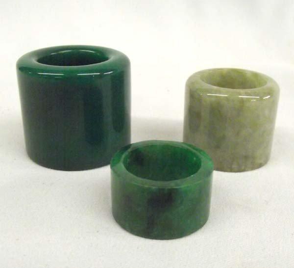 Antique Jade Archers' Rings.