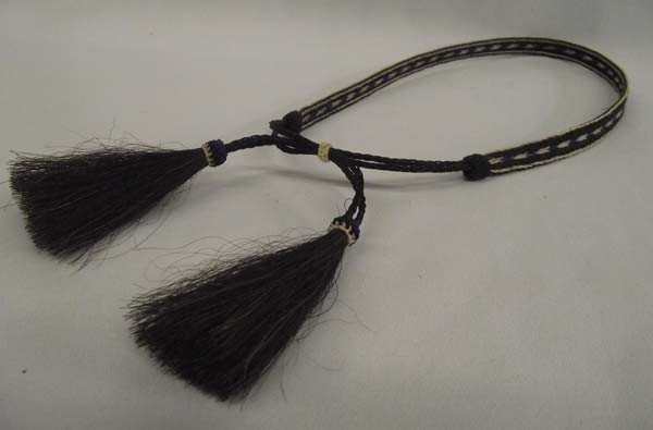 Cowboy Hat Band With Horsehair Tassels