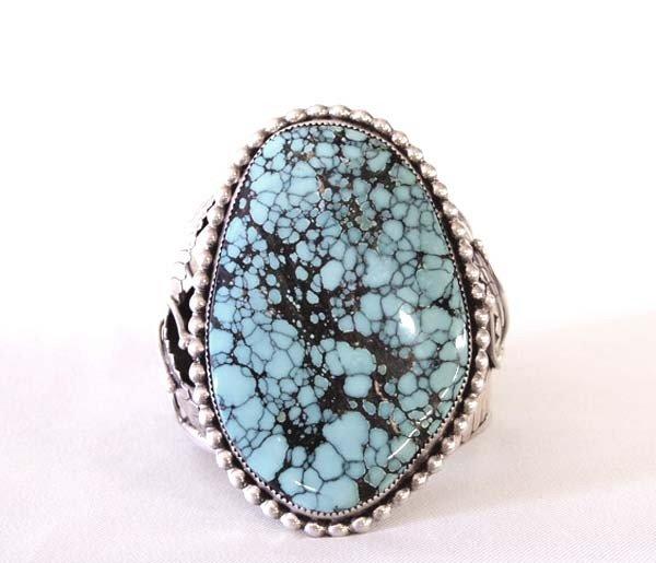 Native American Navajo Turquoise Silver Bracelet