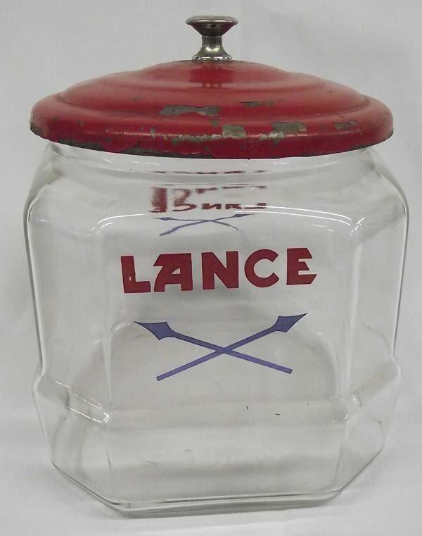 Vintage Lance Cookie/Cracker Glass Storage Jar