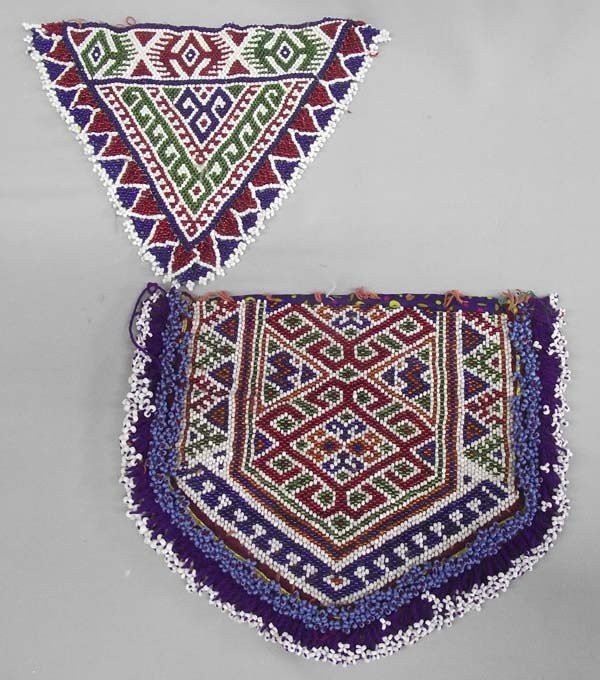 Vintage African Beaded Dance Aprons