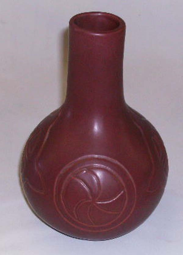 Sequoyah Cherokee Pottery Vase - Euphemia R.