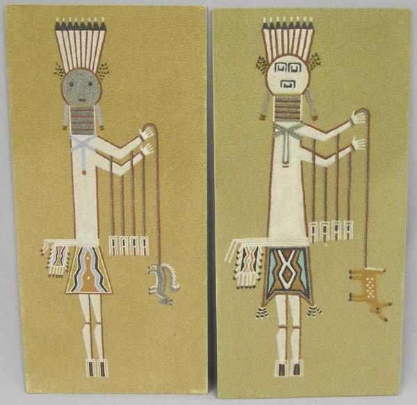 1960's Navajo Sand Paintings By F. & R. Stevens