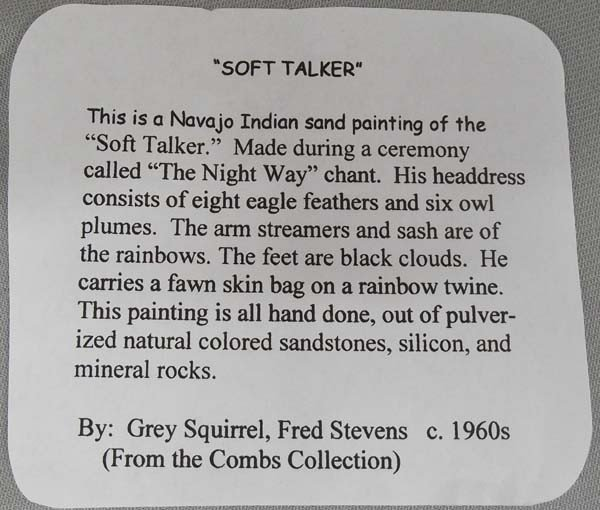 1960's Navajo Sand Paintings By F. & R. Stevens - 3