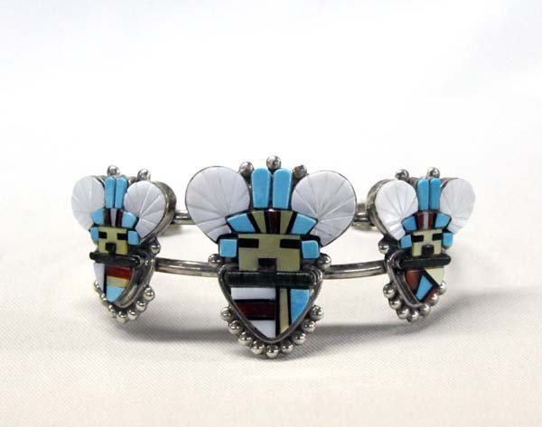 Zuni Silver Turquoise Bracelet by Sybil Cachini