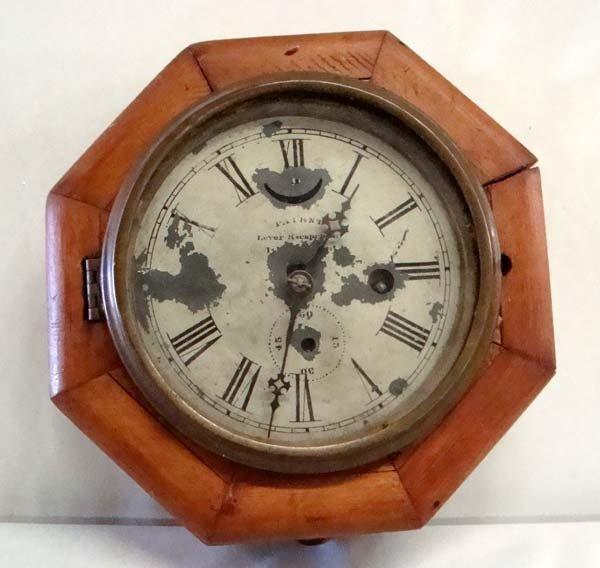 Antique Wooden Ship's Clock