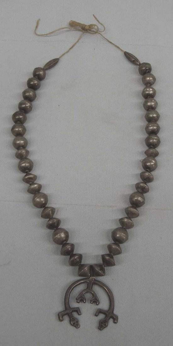 Antique Navajo Naja Sterling Silver Necklace