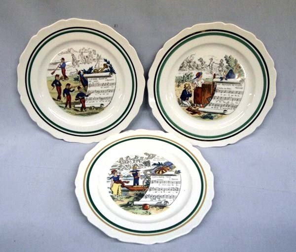 French Musical-Themed Plates