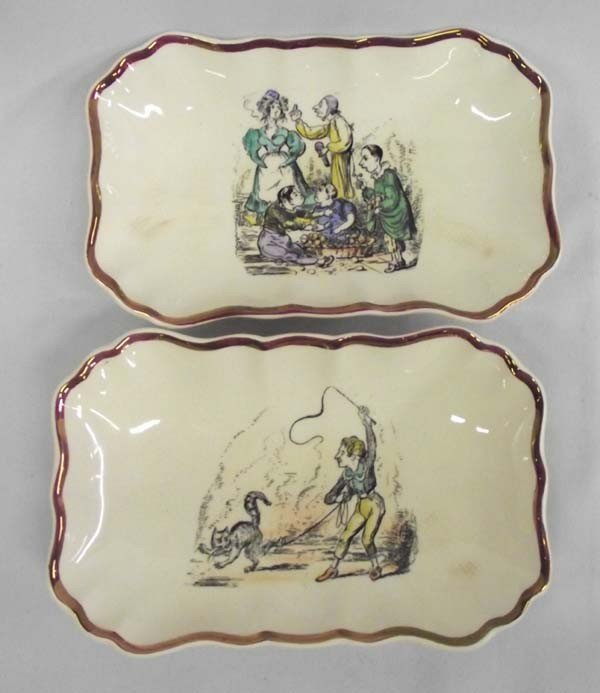 Vintage Gray's English Pottery Dresser Trays